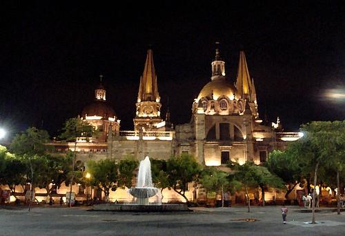 Catedral nocturna en efecto acuarela PS CS3 por ego2005.