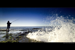 Eager fisherman (markdanielowen) Tags: ocean morning fish man beach water pool rock sunrise canon photography fishing fisherman sand pacific mark sydney wave mona palm vale fisher beaches owen northern tidal narrabeen monavale markowen northernbeaches supershot anawesomeshot diamondclassphotographer markdanielowen markowenphotography