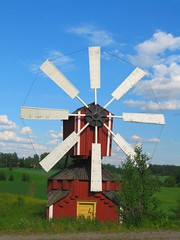 Red Windmill (Bluebird0927 (ON/OFF)) Tags: travel windmill finland scenic explore coolest peopleschoice awesomeshot blueribbonwinner splendiferous agrade flickrgold impressedbeauty travelerphotos diamondclassphotographer flickrdiamond theothervillage ysplix