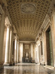 Lateran Basilica - Narthex (Lawrence OP) Tags: pope rome statue cathedral roman basilica constantine porch narthex stjohnlateran themereflection