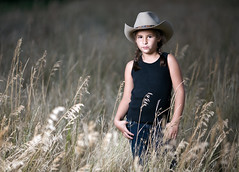 Talk slowly, think quickly (JesseBarker) Tags: portrait home field oregon country niece 5d cowgirl environmentalportrait 135l supershot abigfave 5d365