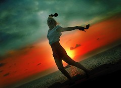 Dancing with the sun... (Fadi Asmar ^AKA^ Piax) Tags: blue red sea summer sun beach set clouds cool friend shoes odd corniche beirut blueribbonwinner lamarina anawesomeshot impressedbeauty aplusphoto superbmasterpiece diamondclassphotographer theperfectphotographer happyormaybebored