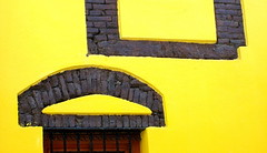 Complete contrast (Emilofero) Tags: brown colour brick yellow wall architecture contrast greece