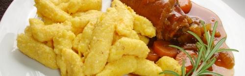 Gnocchi di polenta e zucca im Teller