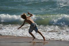 274 (uscgirlnot) Tags: waves sunsetbeach skimboarding