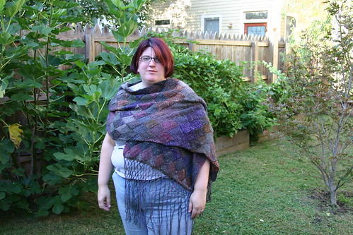 Wearing the shawl