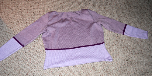 Finished Damn Purple Sweater