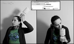 [119/365] : Bulb and error :P (Arisu Saktos) Tags: shadow bw selfportrait bulb blackwhite nikon error 365 day119 selectivecolour nikond60 arisu 365project 119365 arisusaktos alicjaszymalska