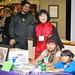 Event mom - Evelyn Liu, our open mic artist and sweet nieces selling their organic eggs!
