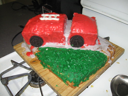 Ryan's Firetruck Cake
