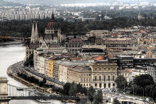 View of Pest. Budapest. Vista de Pest