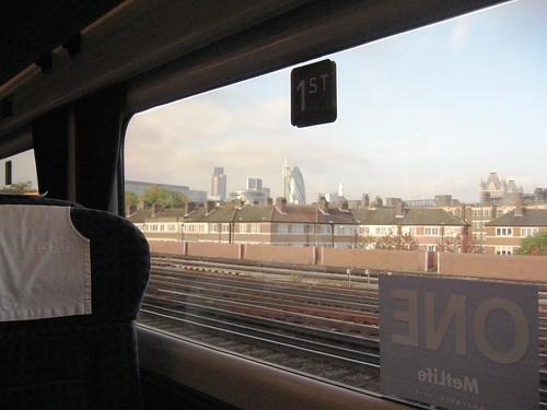 Charter Train approaches London