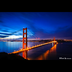 San Francisco Golden Gate Bridge twilight blue moment (davidyuweb) Tags: bridge blue golden twilight gate san francisco moment sfbay sfist mywinners anawesomeshot