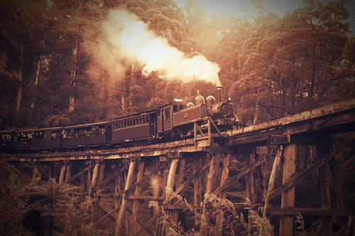 Puffing Billy sepia #2