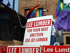 Lee Lumber Float LOL 1 (Taekwonweirdo) Tags: humor lgbt halsted gayprideparade playonwords chicagogaypride2007 sexuallysuggestivelanguage