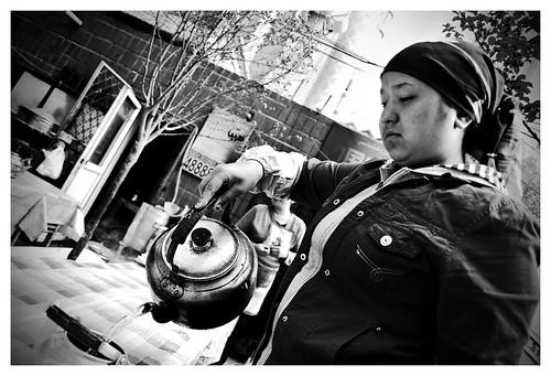 Uygur waitress