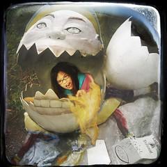 Inside Job (crowolf) Tags: kids kate katie humpty dumpty dinosaureggs scrambledegg humptydumpty crowolf fracturedfairytale apologiestomarkclinefordigitallyabusinghisart butithinkhedlikelikeit dangerousbirths