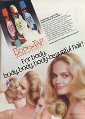 Body on Tap Shampoo 1979 (twitchery) Tags: beer vintage hair shampoo 70s vintageads vintagebeauty