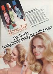 Body on Tap Shampoo 1979 (twitchery) Tags: beer vintage hair shampoo 70s vintageads vintagebeauty