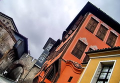 Old Plovdiv (Emilofero) Tags: city orange history yellow wall town europe bulgaria plovdiv bulgarie bulgarien   supershot  arshitecture diamondclassphotographer flickrdiamond