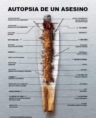 El cigarro visto como un asesino