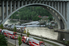 I-35W Bridge Collapse(3) (Poppyseed Bandits) Tags: bridge news unitedstates photojournalism minneapolis disaster collapse emergency mn 35w breakingnews takenbyjeff i35w bridgecollapse summer2007 minnesotabridgecollapse minneapolisbridgecollapse 35wbridgecollapse