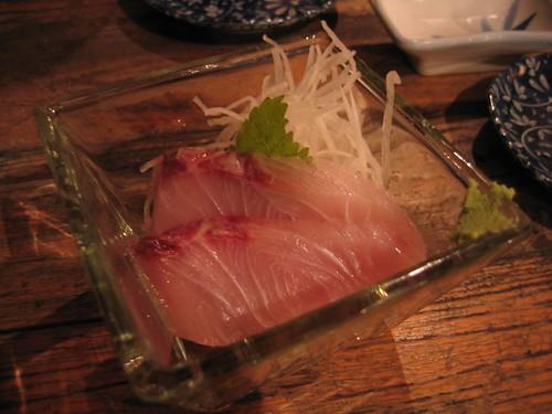 老闆說:葉子要配著魚肉吃