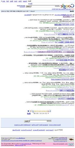 鏡子裡的google-搜尋