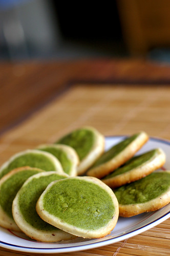 Another batch of matcha cookies