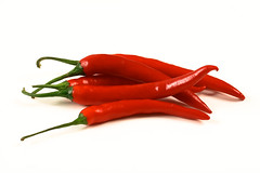 Red Hot Chili Peppers (SimonWhitaker) Tags: red food hot macro studio tasty peppers 60mm chillis capsicum