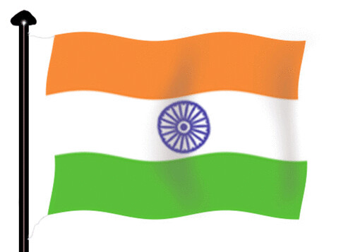 The Tri Colour Indian Flag