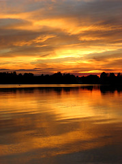 Champlain Reflection (Kirpernicus) Tags: sunset sky orange lake color reflection nature topf25 beautiful gold golden vermont vivid september ripples lakechamplain naturesfinest blueribbonwinner 50v5f piratetreasure mywinners abigfave worldbest shieldofexcellence stalbansbay anawesomeshot aplusphoto ~vivid~ piratetreasure2