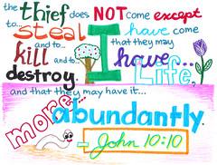 Memory Verse: John 10:10