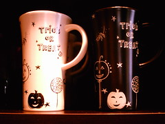 trick or treat mugs (shebrews) Tags: halloween coffee mugs starbucks