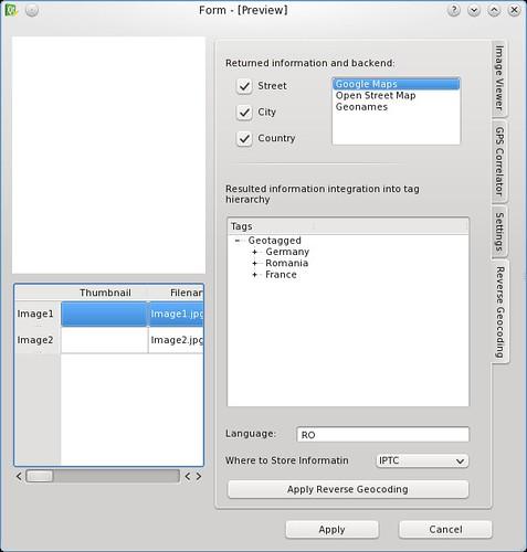 Reverse Geocoding Widget
