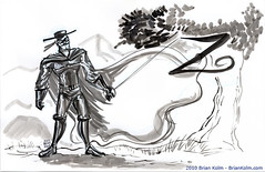 zorro ink drawing