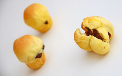 mini brioches cioccolato e zafferano