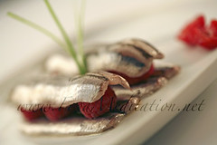 Sea - Anchovies Marinated with Raspberries and...