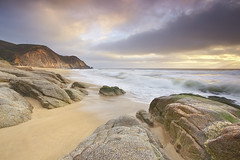 Grey Whale Granite #1 - Grey Whale Cove, California (PatrickSmithPhotography) Tags: ocean california sea sky cloud seascape art water rock fog landscape gray wave granite whale pacifica graywhalecove sandsunset photocontesttnc11
