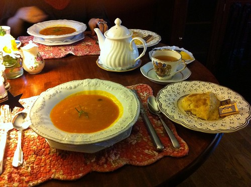 pumpkin bisque and scones