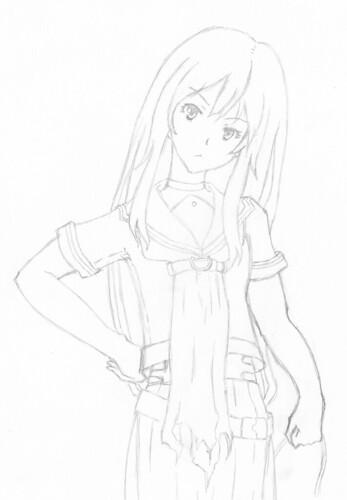 Ryoko Fan art sketch
