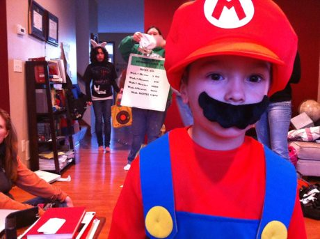 Liam as Mario