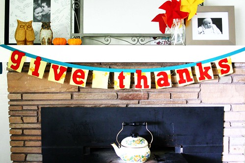 I made a Thanksgiving banner