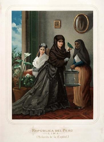 011-Republica del Peru-Lima-Señorita de la Capital-Las Mujeres Españolas Portuguesas y Americanas 1876-Miguel Guijarro