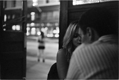 The Other Girl (alapan.com) Tags: sanfrancisco street bw man film girl bar germany photography blackwhite fuji dr rangefinder photoblog northbeach neopan analogue rodinal rodinal150 1600iso fujineopan1600 filmphotography columbusstreet leicam3 filmisnotdead agoncillo 8minutes dualrange autaut longlivefilm wwwalapancom johnagoncillo ernstleitzwetzlar comstocksaloon 5cm12 comstockbar leicasummicron50mmf20summicron believeinfilm