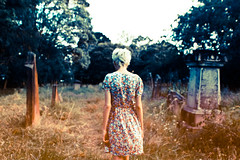 We all want the same thing (Xiangk) Tags: girl cemetery graveyard fashion vintage sydney indie newtown sundress