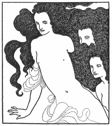 Aubrey Beardsley, Comedy of the Rhinegold, 1896