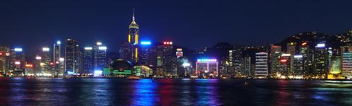 Hong Kong skyline just after dusk