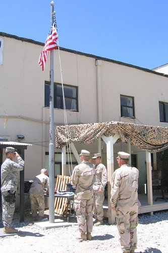 Flag raising July 4, 2007