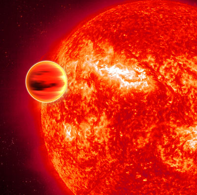 An artist's impression of the transiting exoplanet (credit: ESA)